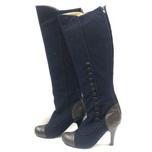 Salvatore Ferragamo Knee-High Victorian Boots